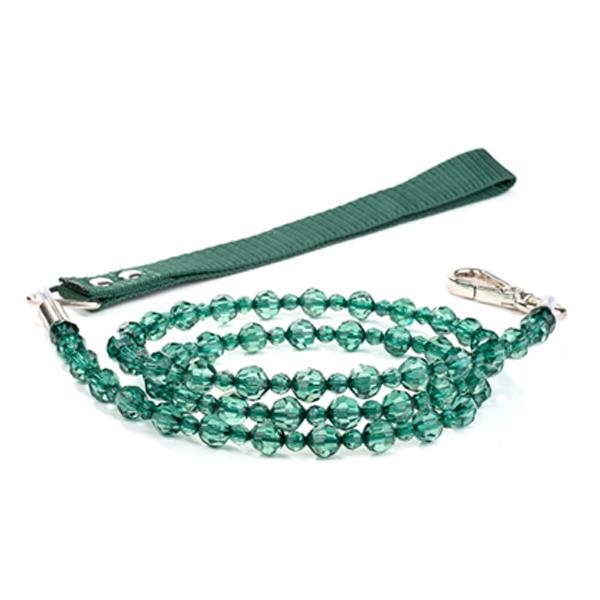 FabuLeash Beaded Dog Leash - Emerald
