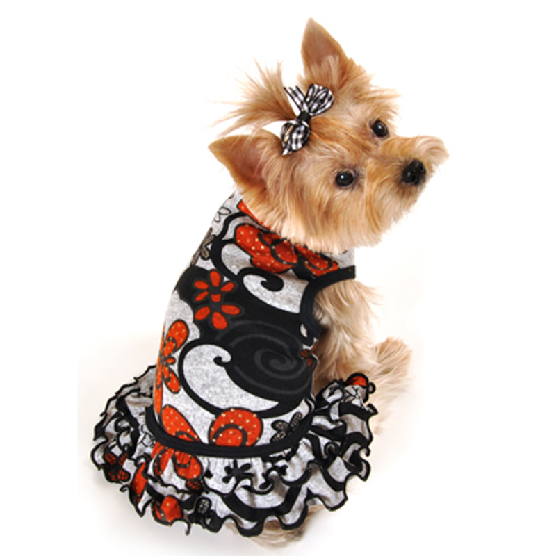 Fall Floral Dog Dress