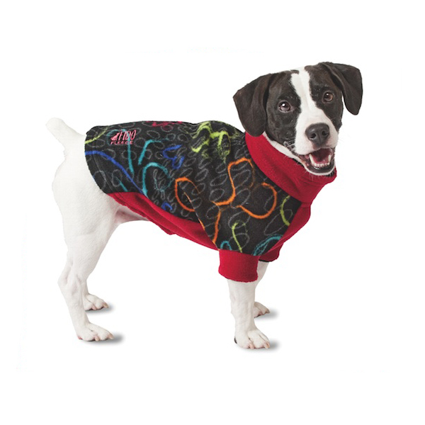 Fido Fleece Ink Heart Dog Coat