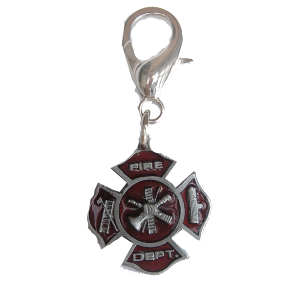 Fire Department Dog Collar Charm