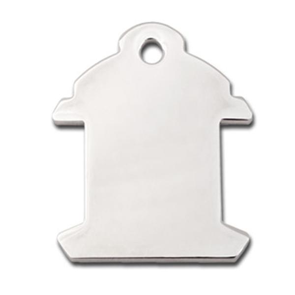 Fire Hydrant Engravable Pet I.D. Tag - Chrome