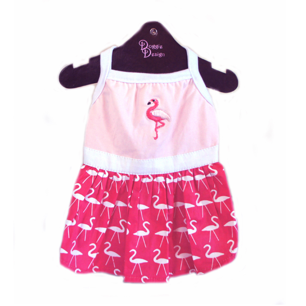 Flamingo Dog Tank Dress by Doggie Design