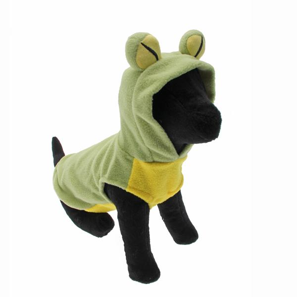 Fleece Frog Dog Hoodie