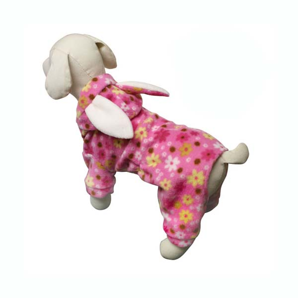 Floral Bunny Hooded Dog Jumpsuit by Klippo