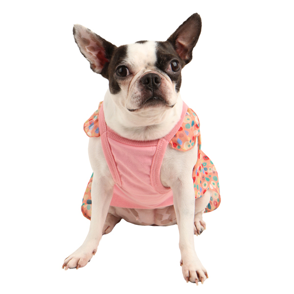 Floret Sleeveless Dog Dress by Puppia - Pink