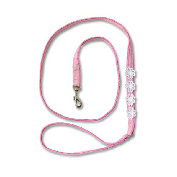 Flower Dress Leash for Harness by Doggles - Pink Lace