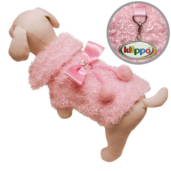 Fluffy and Elegant Pink Dog Coat by Klippo