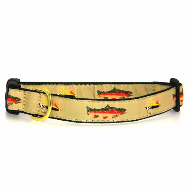 Fly fishing dog collar by up country at baxterboo for Fish dog collar