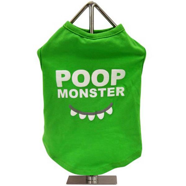 FouFou Slogan Dog Tank - Poop Monster