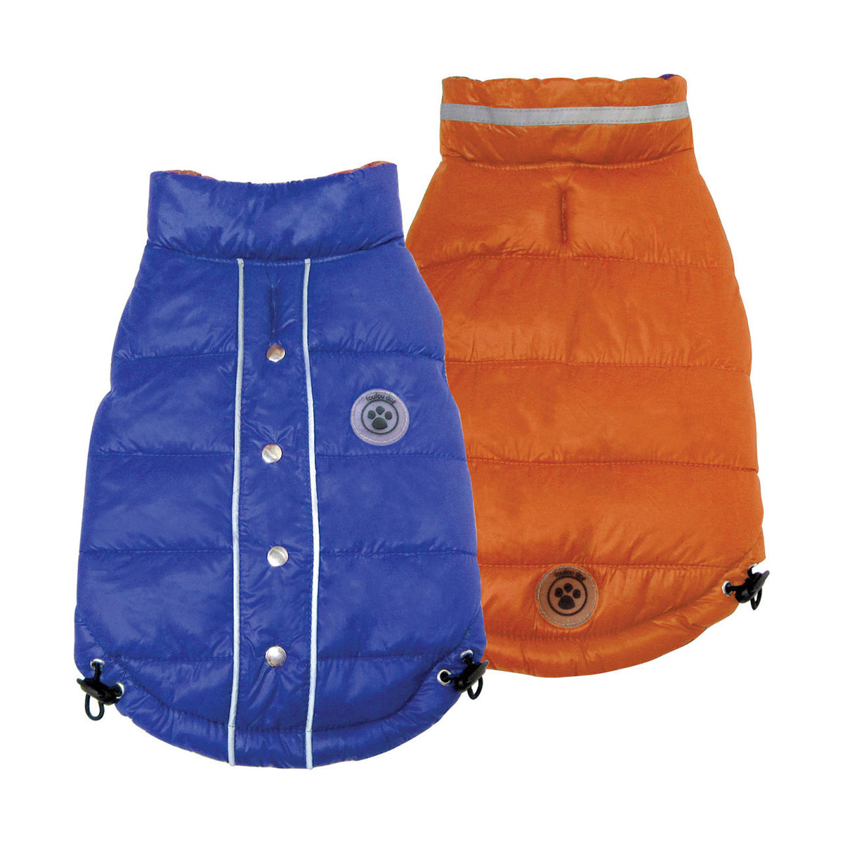 FouSki Reversible Dog Parka - Blue/Orange
