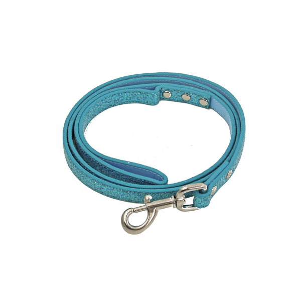 Foxy Glitz Dog Leash - Blue