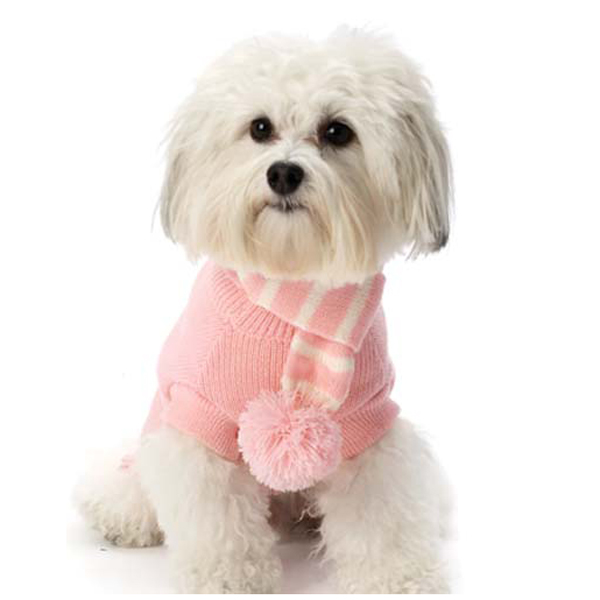 Frosty's Snowflake Dog Scarf - Peaceful Pink