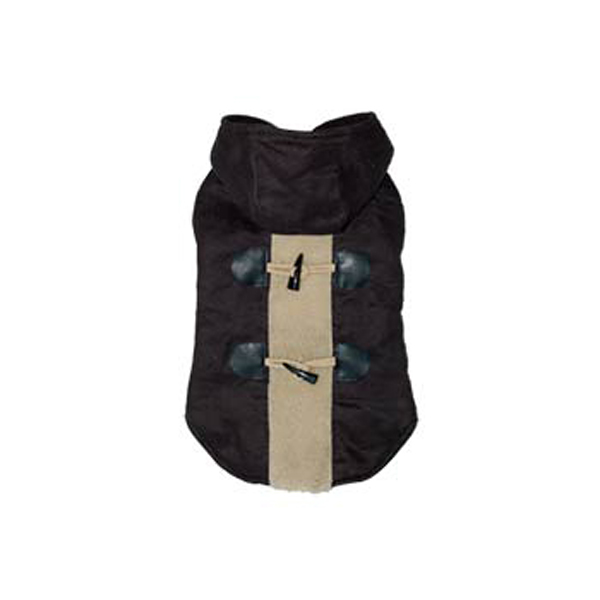 Furry Toggle Dog Coat by Dogo - Black