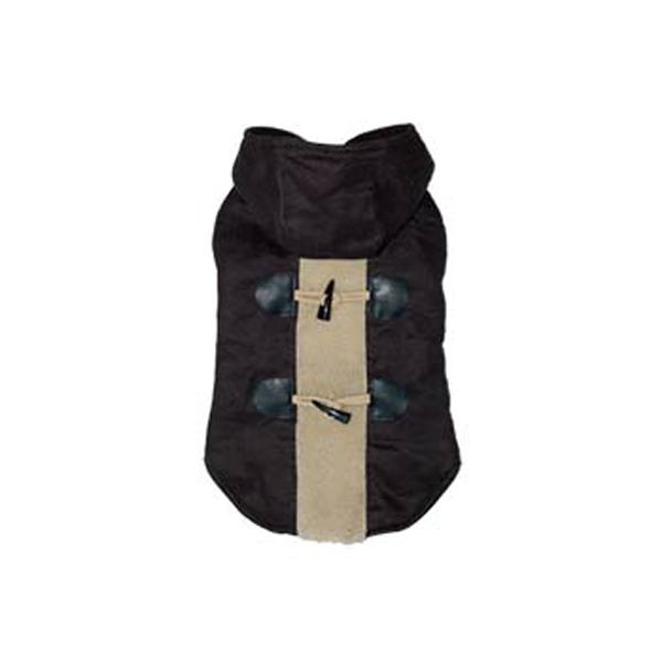 Furry Toggle Dog Coat by Dogo - Black