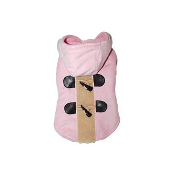 Furry Toggle Dog Coat by Dogo - Pink