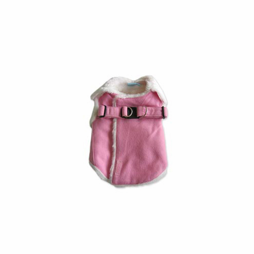 Furry Winter Harness Coat by Dogo - Pink