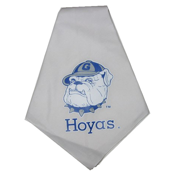 Georgetown Hoyas Dog Bandana - White