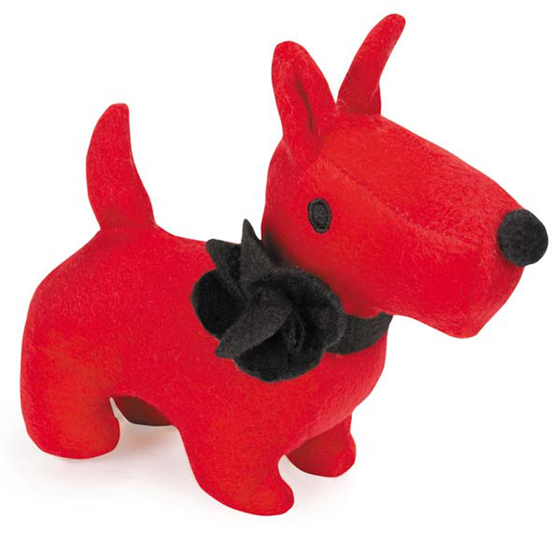 GGrriggles Sweetheart Scottie Dog Toy - Red