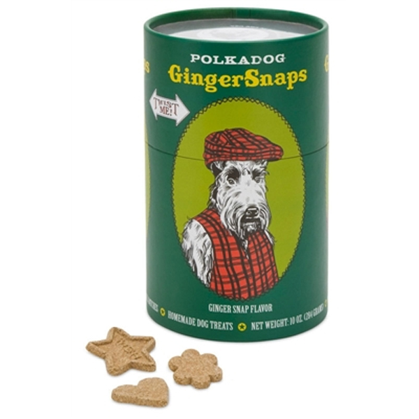 Ginger Snaps Dog Treats by Polka Dog Bakery - Green Twist Me Can