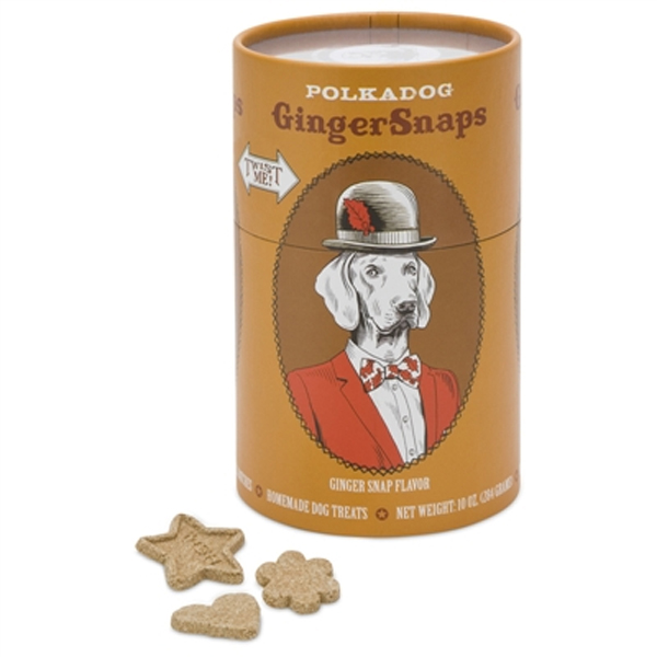 Ginger Snaps Dog Treats by Polka Dog Bakery - Tan Twist Me Can