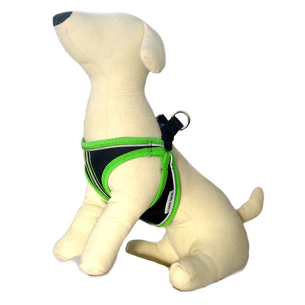 GLO Step-In Style Dog Harness - Green