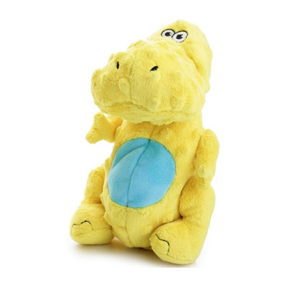 GoDog Dino T-Rex Dog Toy - Yellow
