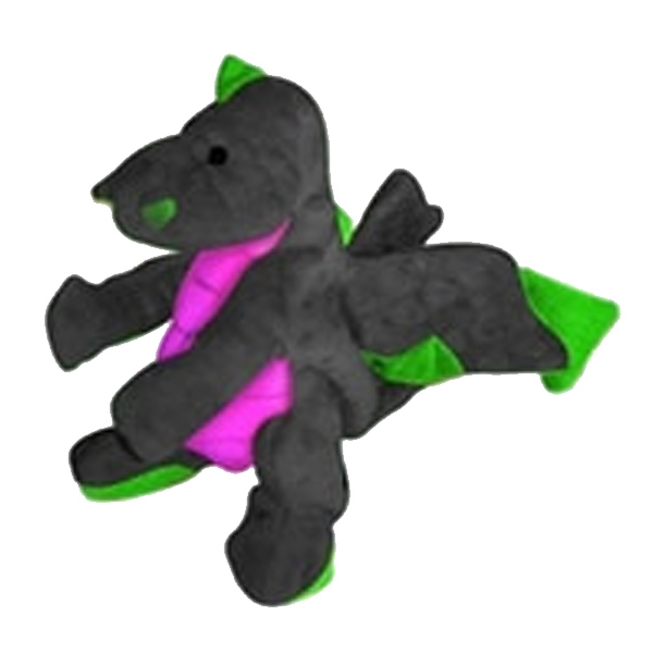 GoDog Dragons Dog Toy - Black