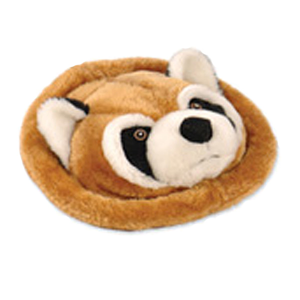 GoDog Furry Flyer Dog Toy - Raccoon