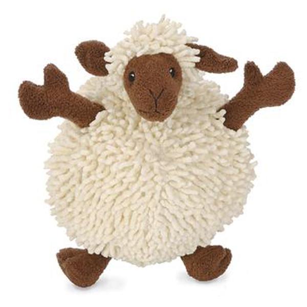 GoDog Fuzzy Wuzzy Sheep Dog Toy - Brown | BaxterBoo