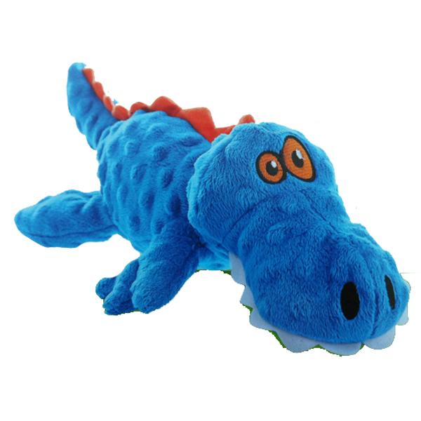 GoDog Gators Dog Toy - Blue/Orange