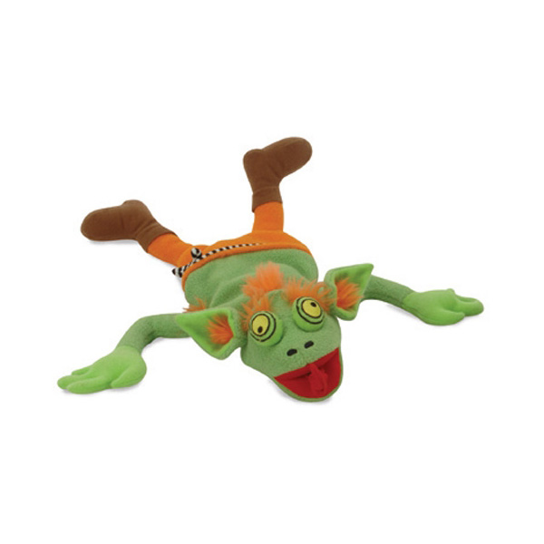 GoDog Halloween Green Troll Dog Toy