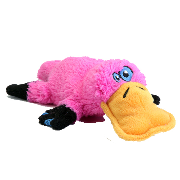 GoDog Plattiez Dog Toy - Pink