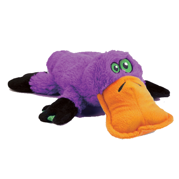 GoDog Plattiez Dog Toy - Purple