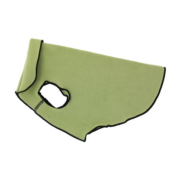 Gold Paw Fleece Dog Jacket - Eucalyptus