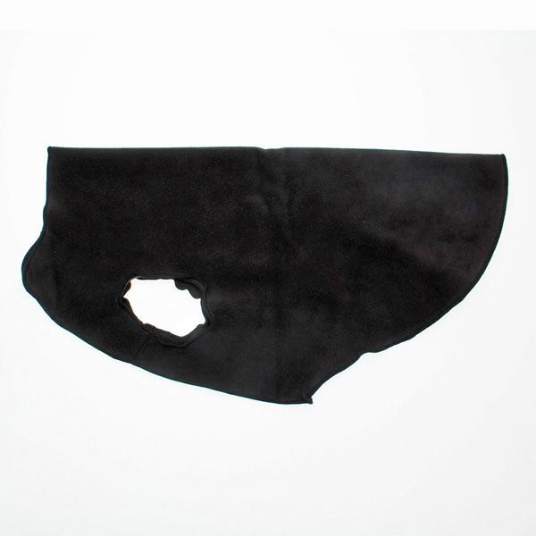 Gold Paw Fleece Dog Jacket - Black