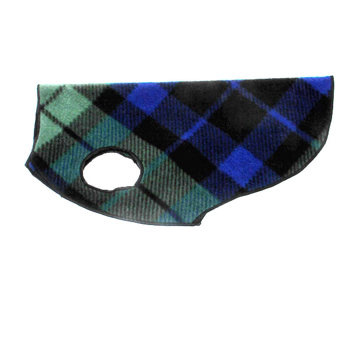 Gold Paw Fleece Dog Jacket - Black Watch Plaid