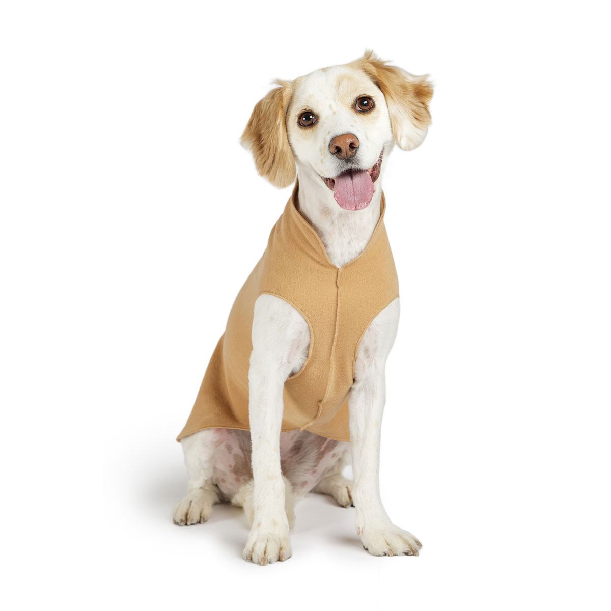 Gold Paw Fleece Dog Jacket - Camel
