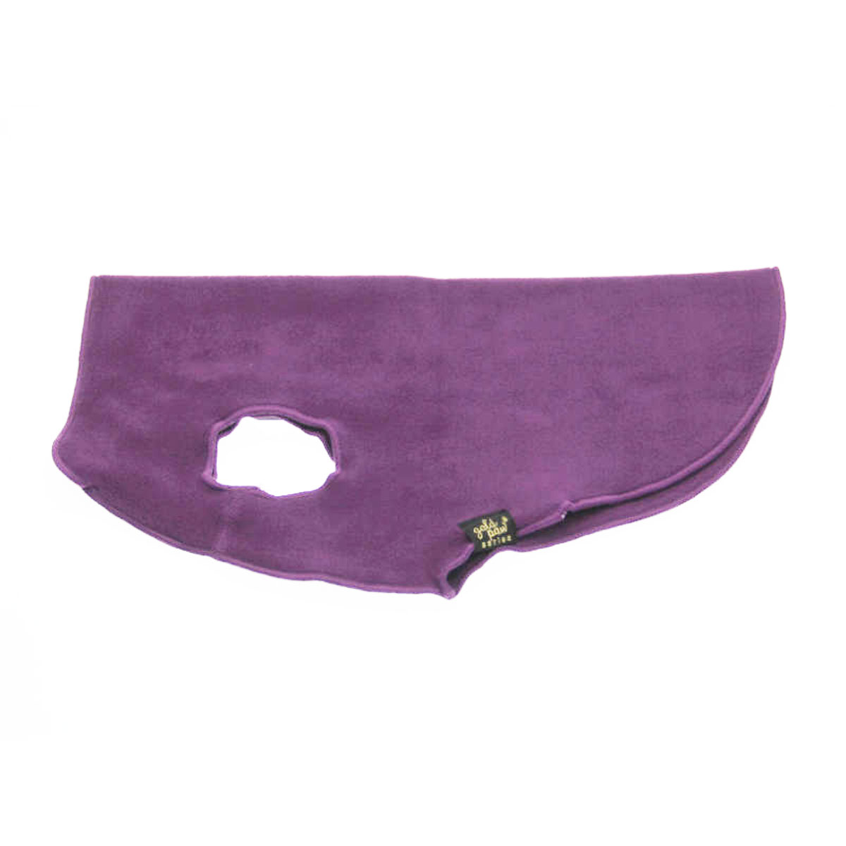 Gold Paw Fleece Dog Jacket - Eggplant