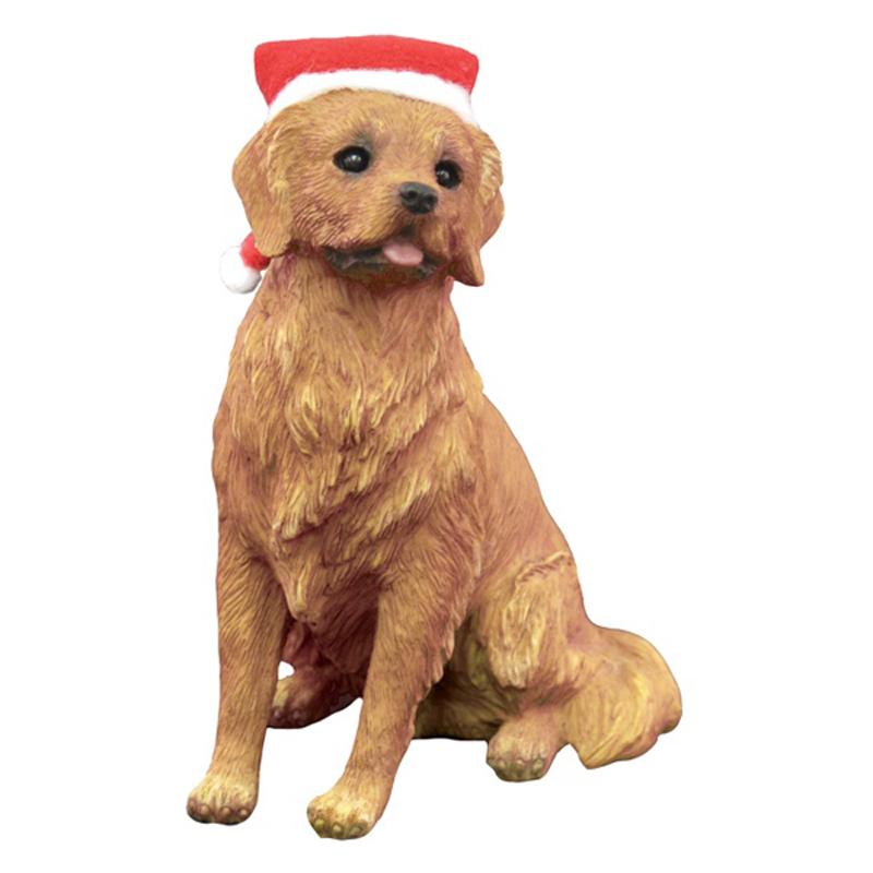 Golden Retriever Sitting Christmas Ornament