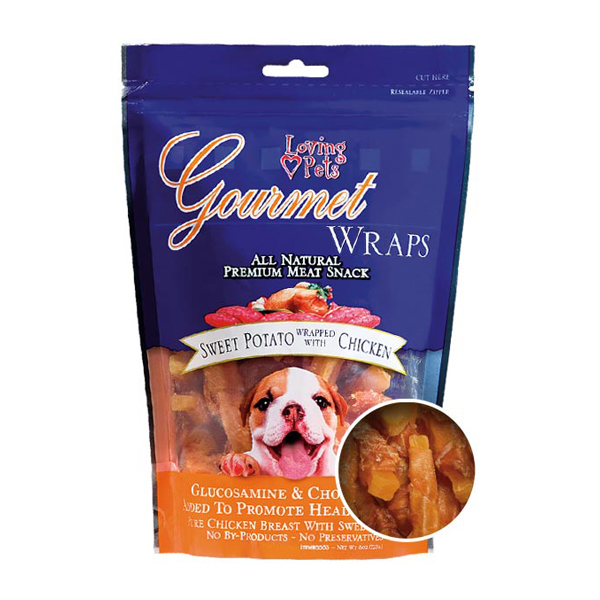 Gourmet Sweet Potato & Chicken Wraps Dog Treats