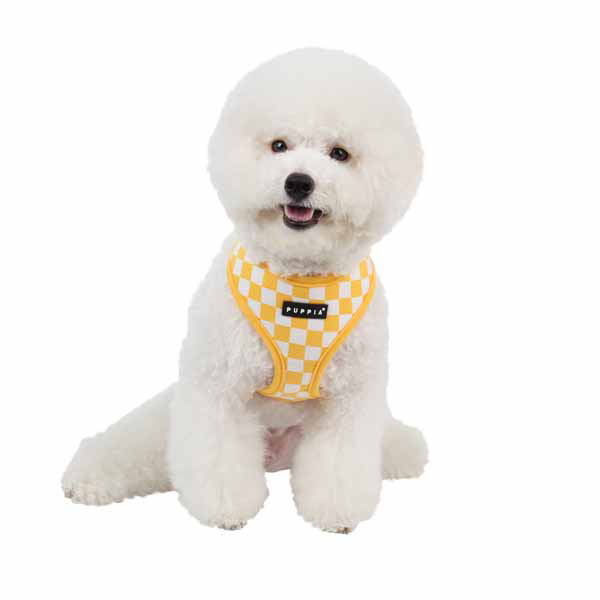 Grand Prix Dog Harness by Puppia - Yellow