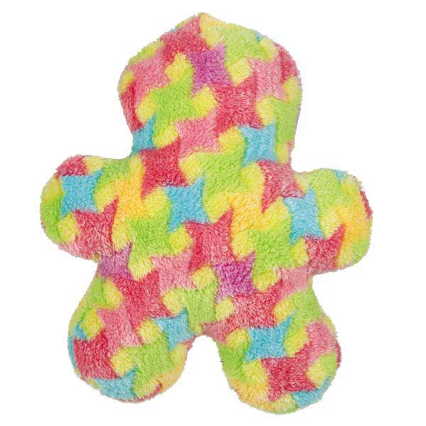 Grriggles Bright Houndstooth Men Dog Toy - Yellow
