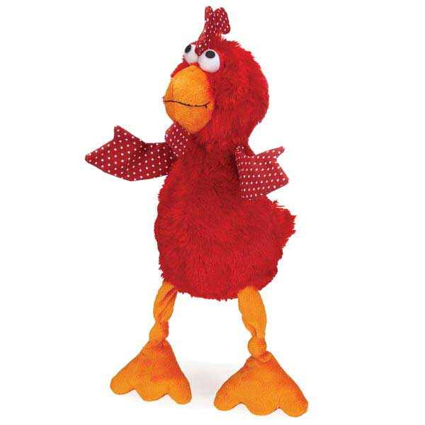 Grriggles Cluckies Dog Toy - Red