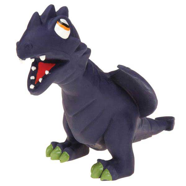 Grriggles Dizzy Dinos Latex Dog Toy - Purple Dragon