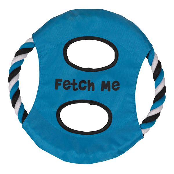 Grriggles Fetch Me Flyer Dog Toy - Bluebird