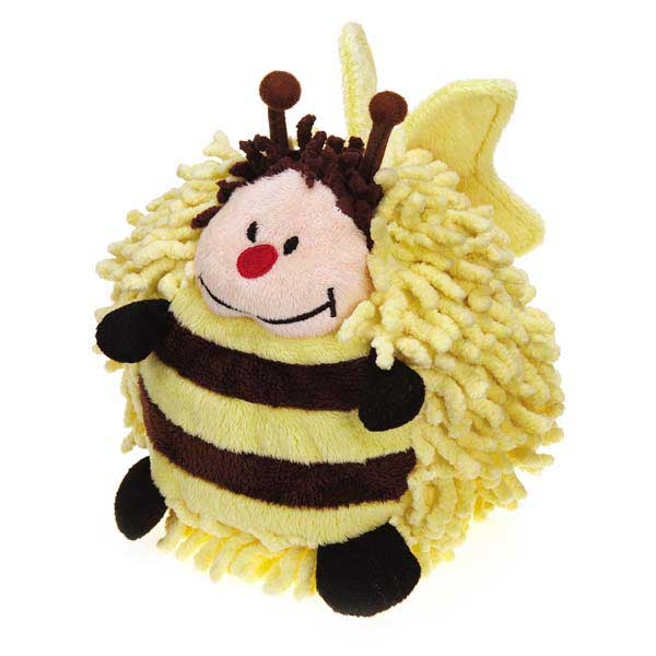 Grriggles Flutter Bug Moppy Dog Toy - Bee