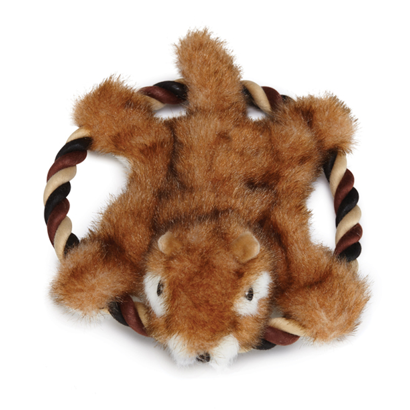 Grriggles Fuzzy Flyers Dog Toy - Chipmunk