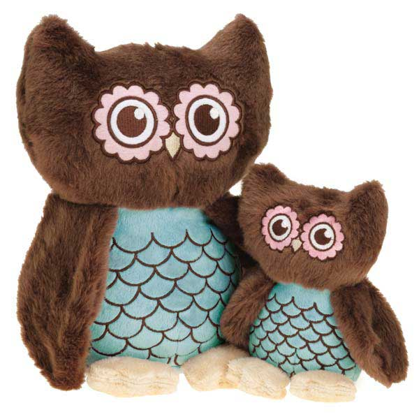 Grriggles Hoot and Howl Owls Dog Toy