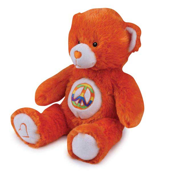 Grriggles Jelly Bean Bear Dog Toy - Orange