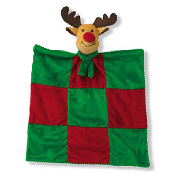 Grriggles Merry Quilt Dog Toy - Reindeer